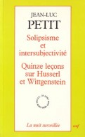 Solipsisme et intersubjectivité