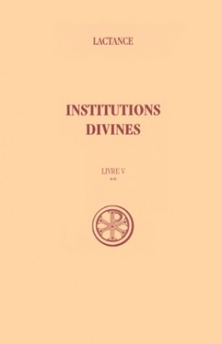 SC 205 Institutions divines, Livre V-II