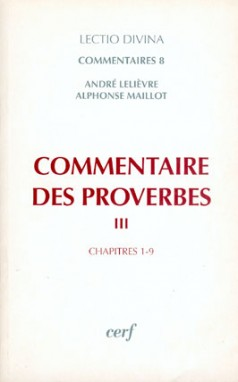 Commentaire des Proverbes, III